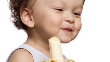 Růst dítěte banán