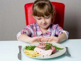 dítě nejí maso