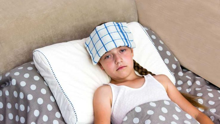 Úpal a úžeh u dětí