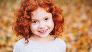 Kudrnaté vlasy u dětí
