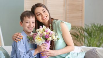 Květiny k narození syna