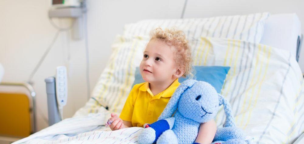 Dítě jde na operaci