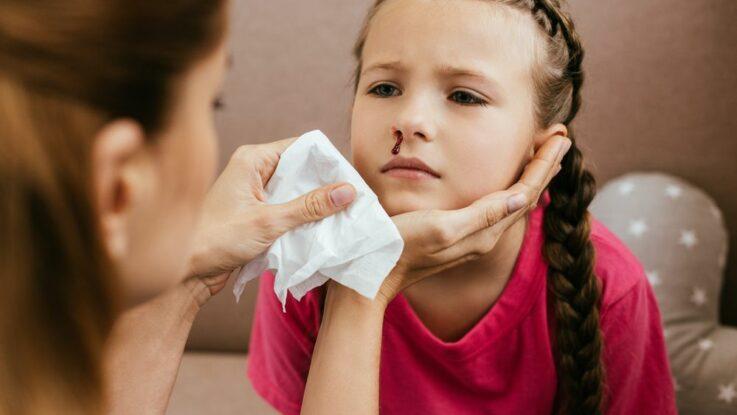 Krvácení z nosu u dětí